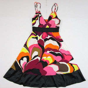 Express Dresses - Express Fit Flare A-line Dress Bright Multicolor